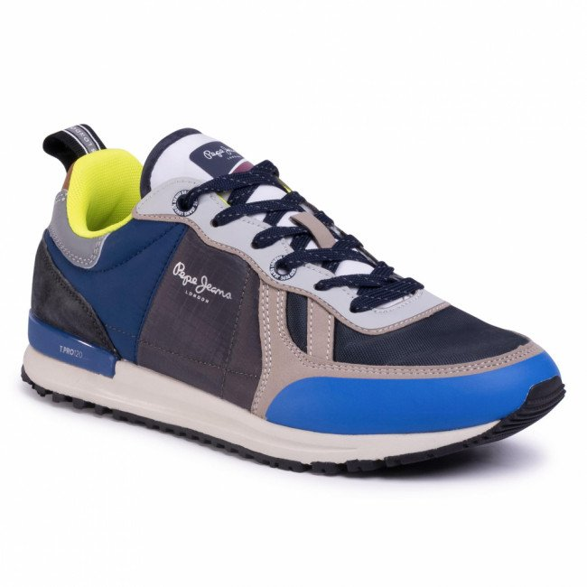 Sneakersy PEPE JEANS - Tinker Pro Sup PMS30622  Bright Blue 545