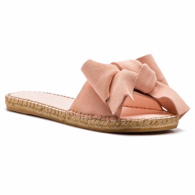 Espadrilky MANEBI - Sandals With Bow W 1.4 J0 Pastel Rose Suede