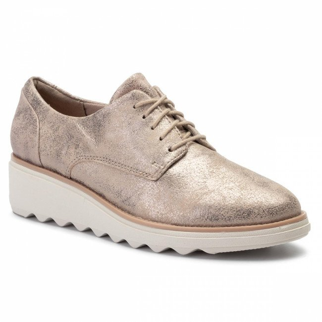 Oxfordy CLARKS - Sharon Crystal 261400714  Pewter