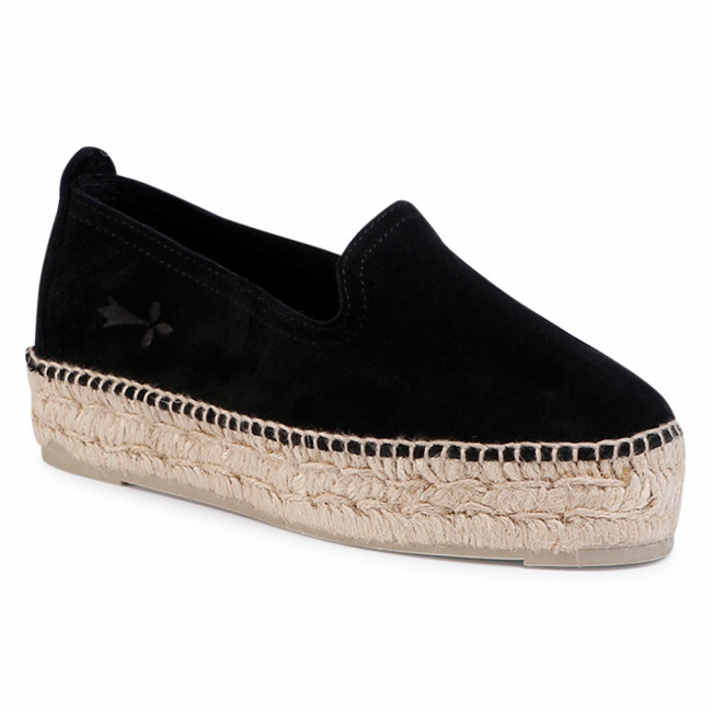 Espadrilky MANEBI - Slippers D K 1.0 D0 Black