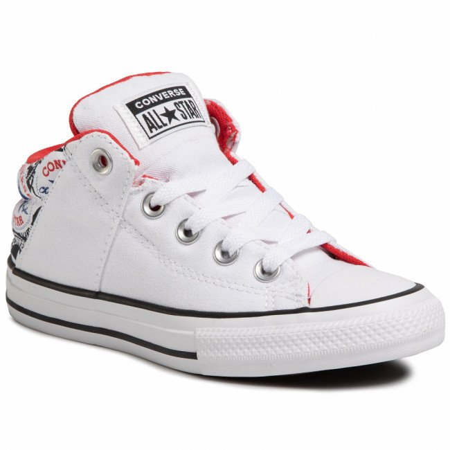 Tramky CONVERSE - Ctas Axel Mid 667092C White/University Red/Rush Blue