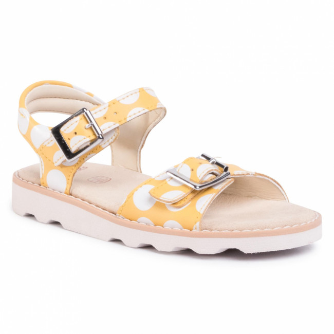 Sandále CLARKS - Crown Bloom K 261478016 Yellow Combination