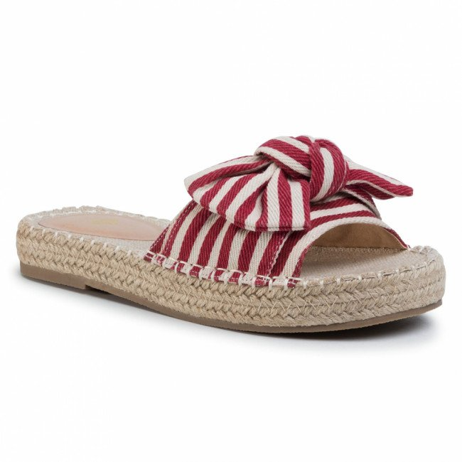 Espadrilky TWINSET - Ciabattina 201LMPZRR Bic.True Red/Ottico 05080