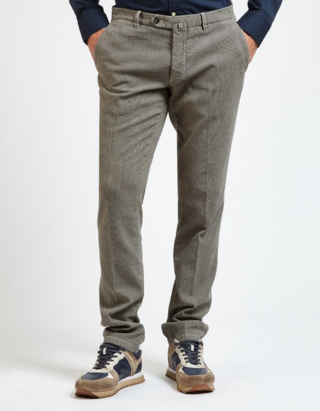 Nohavice La Martina Man Chino Pant Cotton Tweed - Šedá - 56