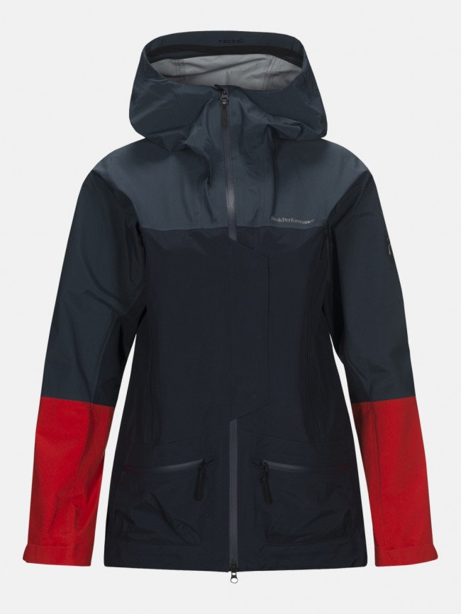Bunda Peak Performance W Vis T J Active Ski Jacket - Modrá