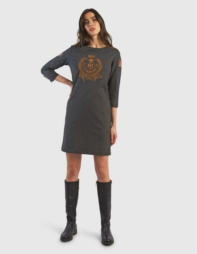 Šaty La Martina Woman Punto Milano Dress L/S
