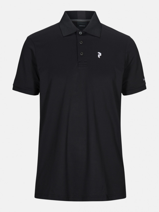 Polokošeľa Peak Performance M Tech Solid Polo - Čierna