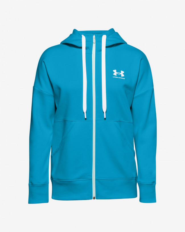 Under Armour Rival Fleece Full Zip Mikina Modrá