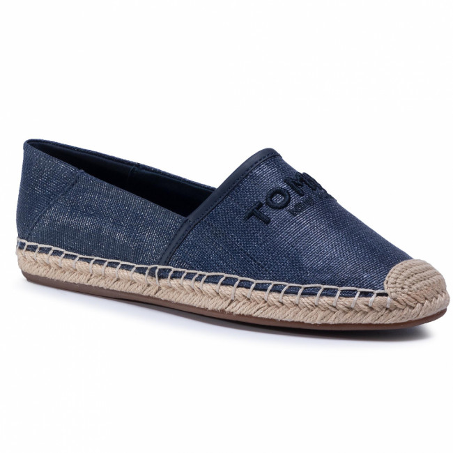 Espadrilky TOMMY HILFIGER - Embroidery Esoadrille FW0FW04966 Sport Navy DB9