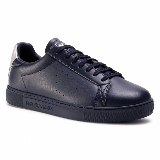 Sneakersy EMPORIO ARMANI - X4X316 XM500 N026 Blue Navy/Old Silver