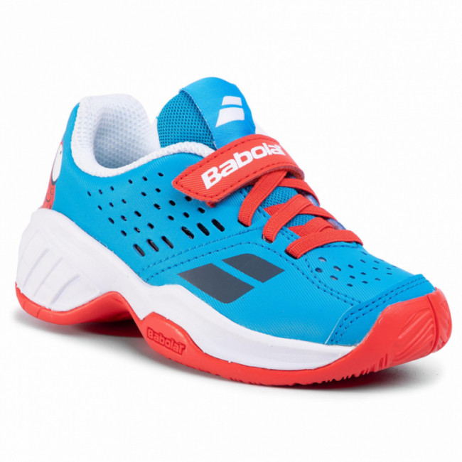 Topánky BABOLAT - Pulsion All Court Kid 32S20518 Tomato Red/Blue Aster