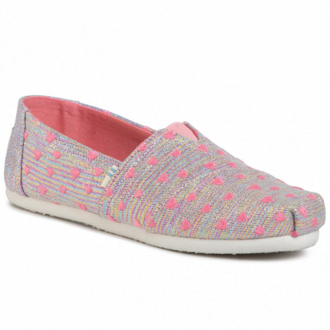 Poltopánky TOMS - Classic 10015285 Pink Multi Heartsy