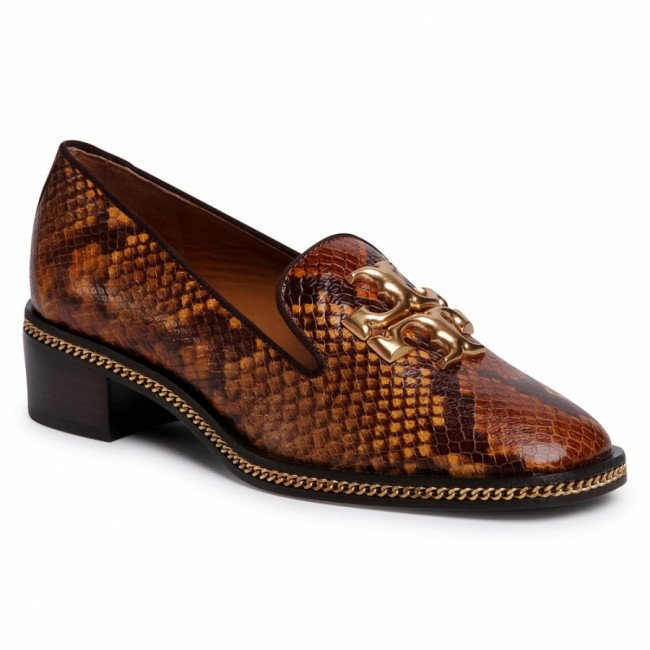 Poltopánky TORY BURCH - Freya 45mm Loafer 74082 Dark Caramel/Coconut 993