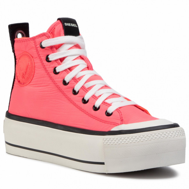 Tramky DIESEL - S-Astico Mc Wedge Y02380 P3392 H8096 Coral Fluo