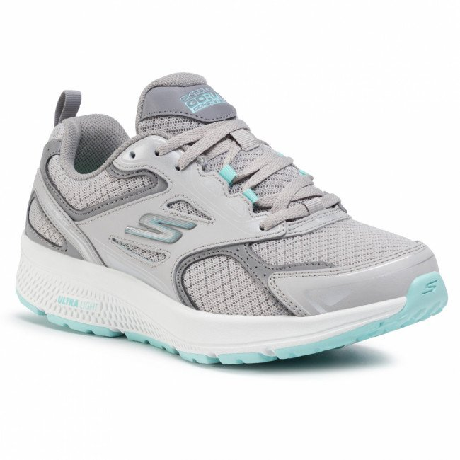 Topánky SKECHERS - Go Run Consistent 128075/GYTQ Gray/Turquoise
