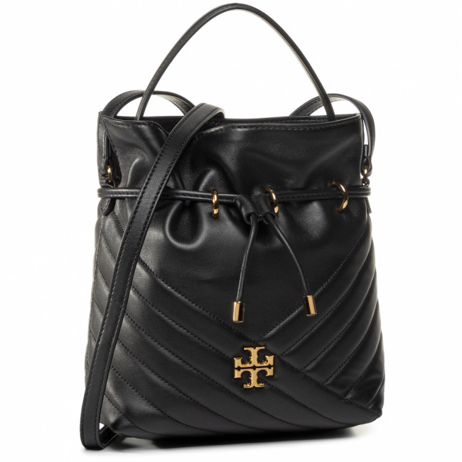 Kabelka TORY BURCH - Kira Chevron Mini Bucket Bag 73561 Black 001