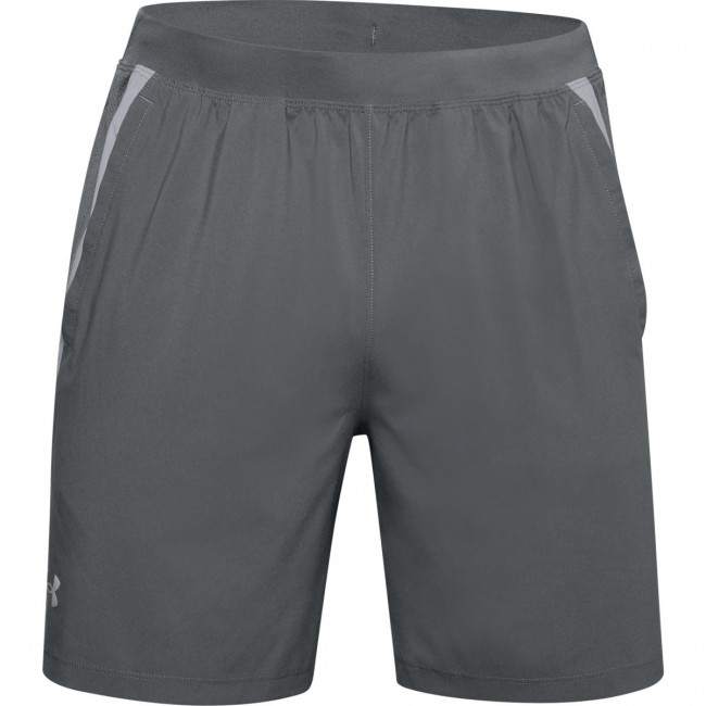 Kraťasy Under Armour UA Launch SW 7'' Branded STS-GRY