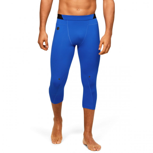 Kompresné legíny Under Armour HG Rush 3/4 Leggings-BLU
