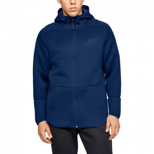 Mikina Under Armour MOVE FZ HOODIE-BLU