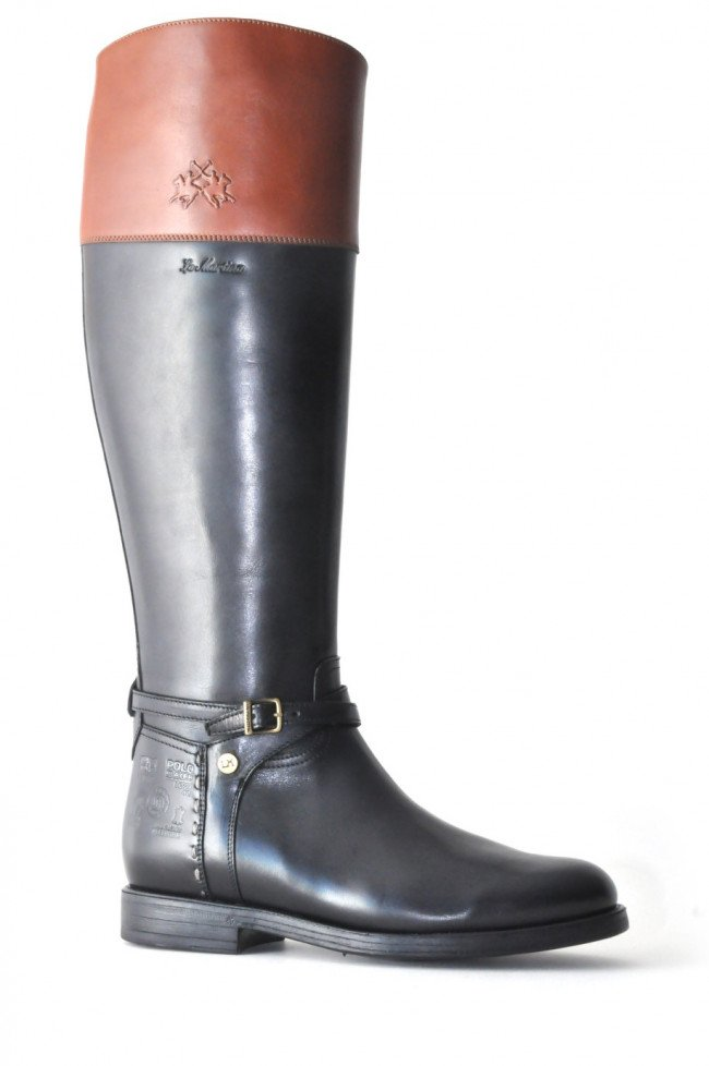 Kozačky La Martina Woman Boots Cuero Calf Leather Nero