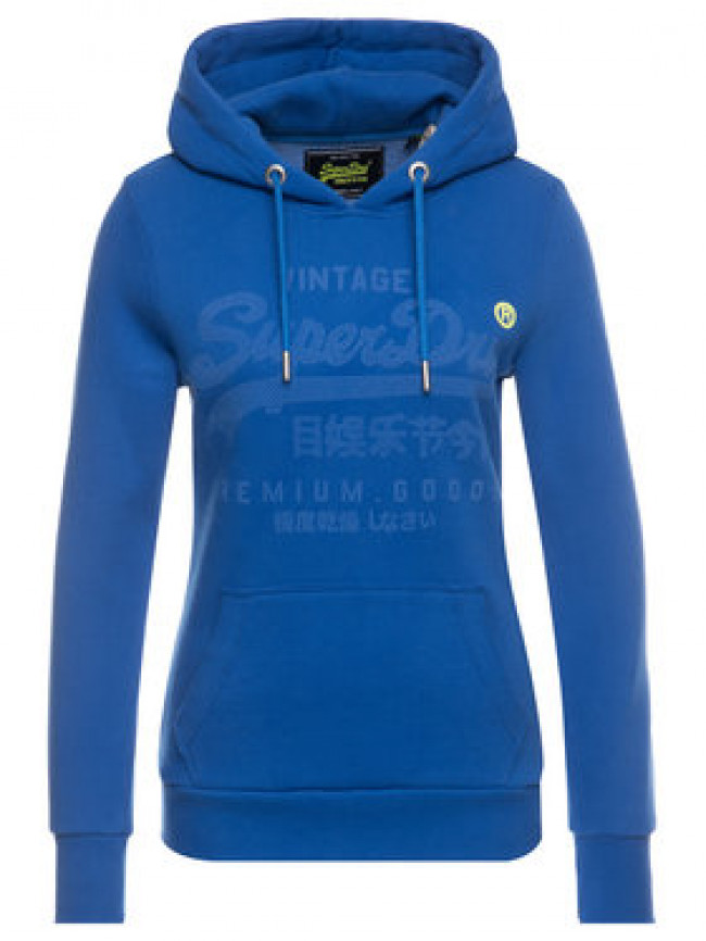 Superdry Mikina Premium Goods Tonal Infill Entry Hood W2000089A Tmavomodrá Regular Fit