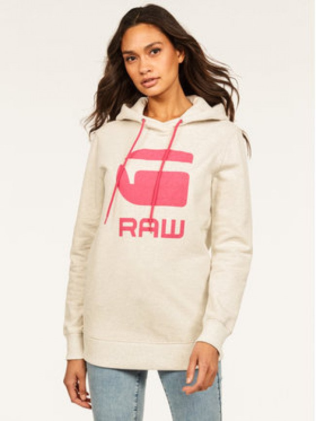 G-Star RAW Mikina Boyfriend Diamond Line Graphic Hooded D16236-A613-971 Sivá Loose Fit
