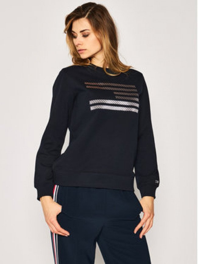 Tommy Hilfiger Mikina ICONS Relaxed C-Nk WW0WW27841 Tmavomodrá Regular Fit