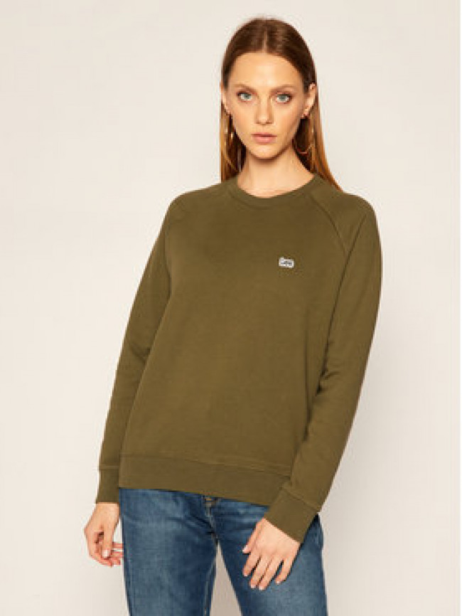 Lee Mikina Plain Crew Neck Sws L53RTXNX Zelená Regular Fit