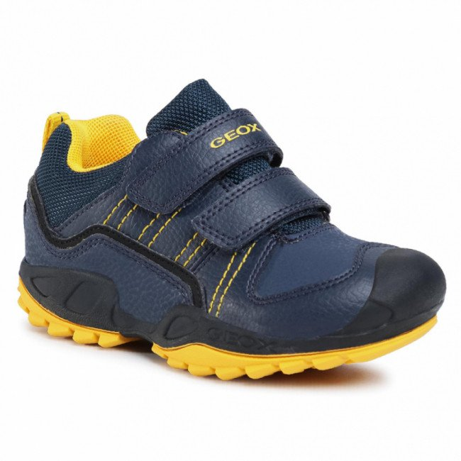Sneakersy GEOX - J N.Savage B. A J041VA 0FEFU C4054 S Navy/Yellow