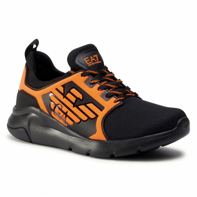 Sneakersy EA7 EMPORIO ARMANI - X8X057 XCC55 M538 Black/Orange Fluo