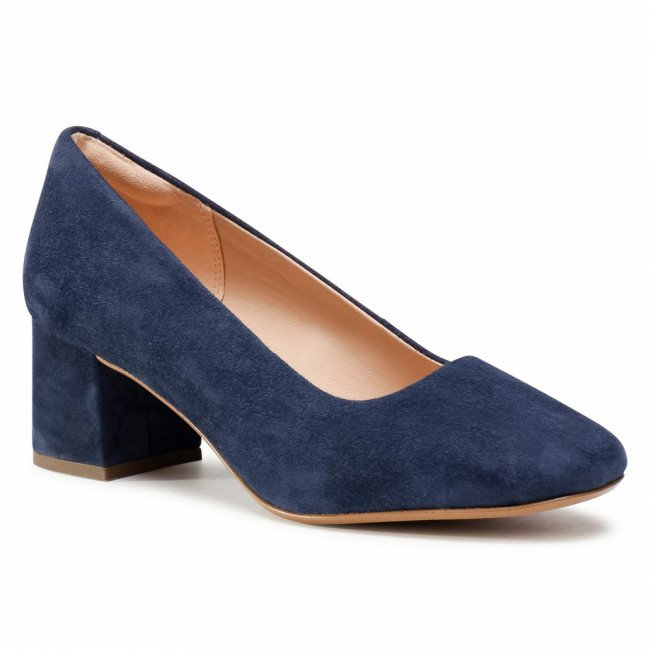Poltopánky CLARKS - Sheer Rose 2 261546974  Navy Suede