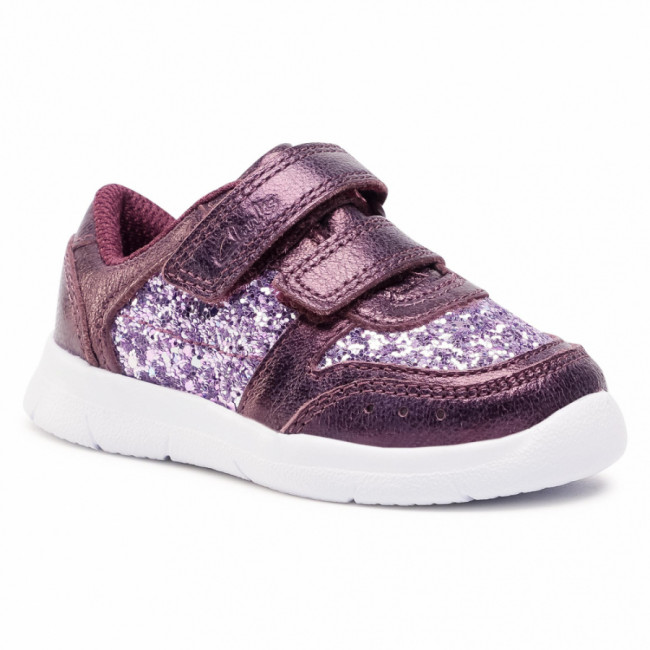 Poltopánky CLARKS - Ath Sonar T 261512336  Berry Leather