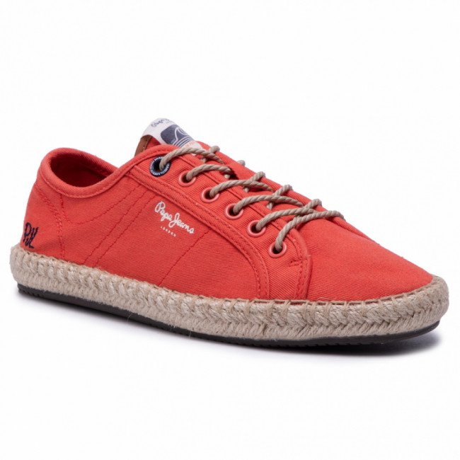 Espadrilky PEPE JEANS - Tourist Island W PLS10398 Sunset Orange 168