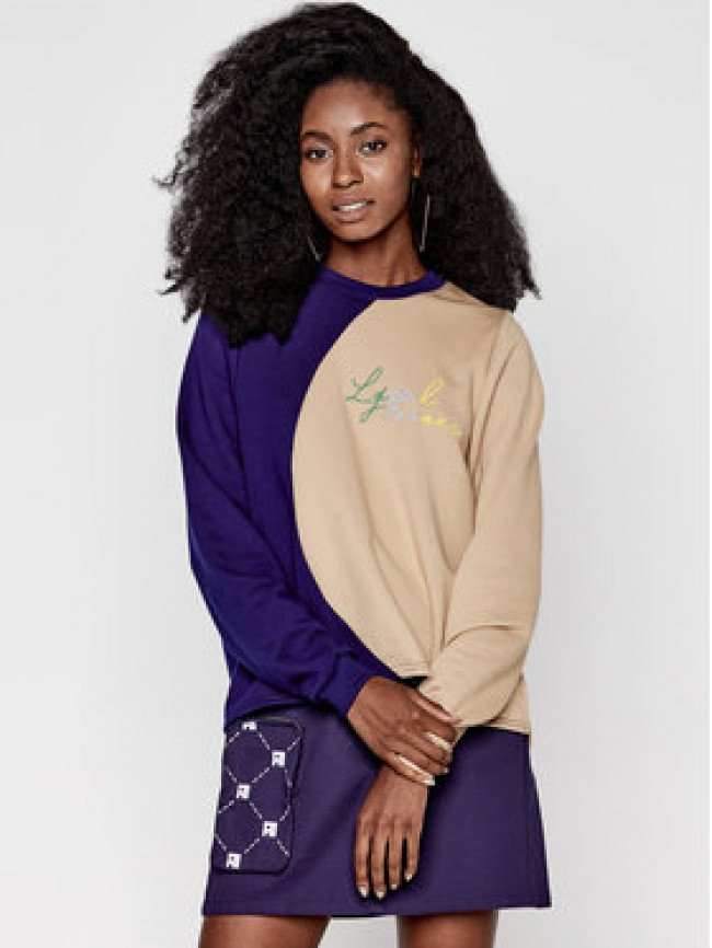 Local Heroes Mikina Moon Cut AW2021S0016 Béžová Cropped Fit