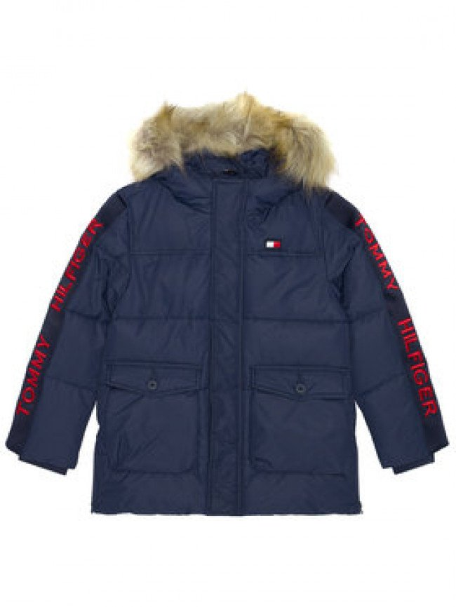 TOMMY HILFIGER Vatovaná bunda Arctic Tape KB0KB05995 M Tmavomodrá Regular Fit