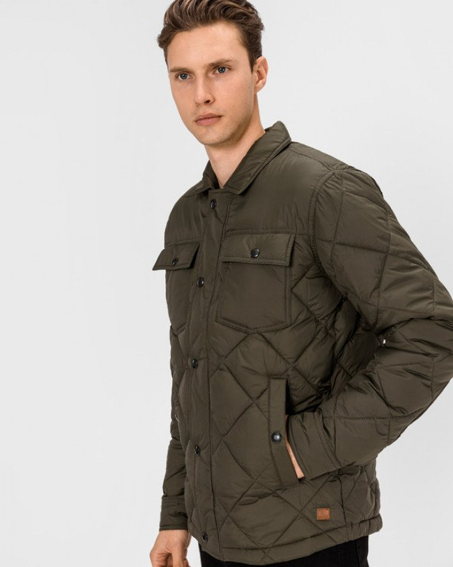 Jack & Jones Workwear Quilted Bunda Zelená