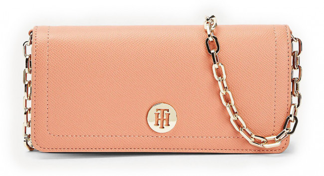 Tommy Hilfiger malá púdrová kabelka Honey Mini Crossover Clay Pink