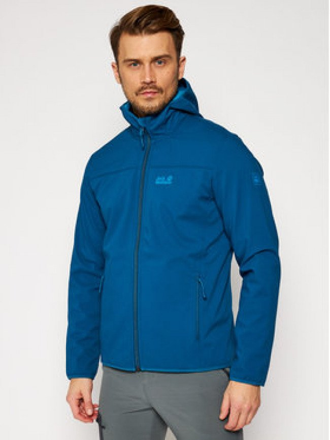 Jack Wolfskin Softshellová bunda Northern Point 1304001 Modrá Regular Fit