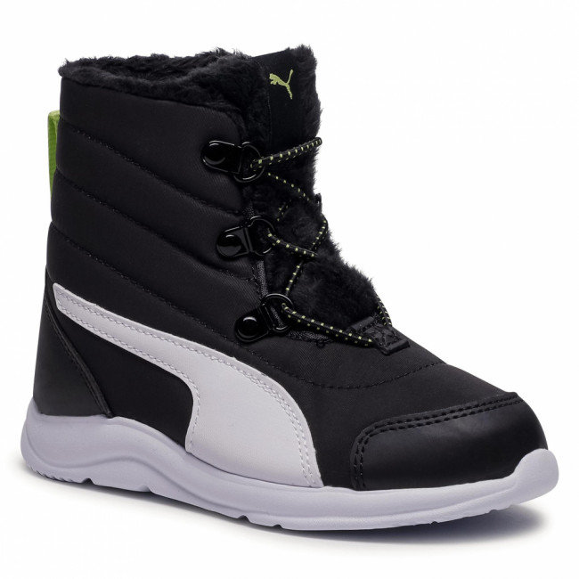 Snehule PUMA - Fun Racer Boot Ac Ps 194281 01 Puma Black/Sharp Green