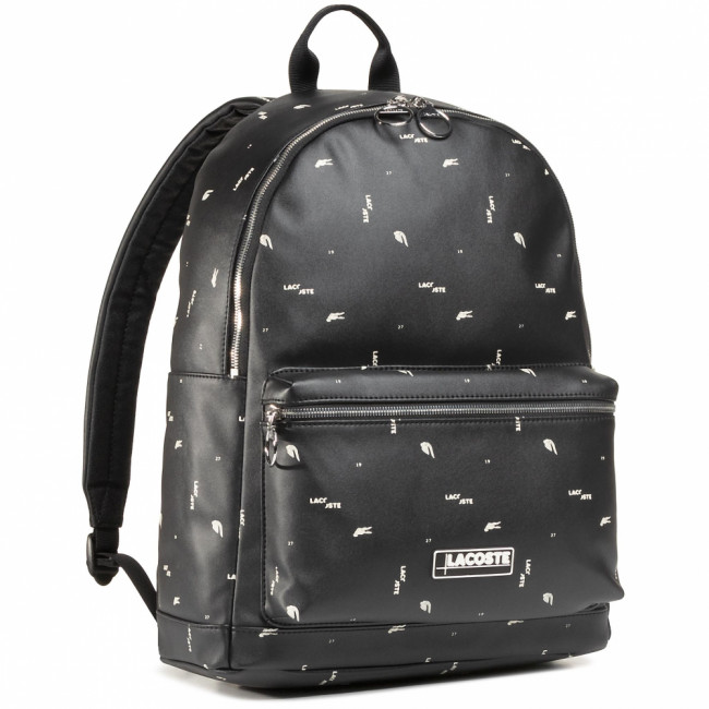 Ruksak LACOSTE - Backpack NH3303LV Aop Mini Wording Noir F69