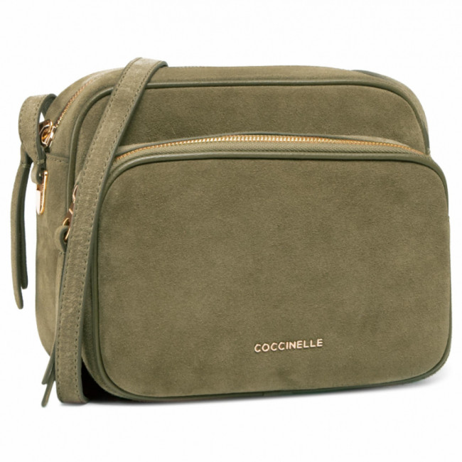 Kabelka COCCINELLE - H62 Lea Suede E1 H62 15 01 01 Moss Green G63