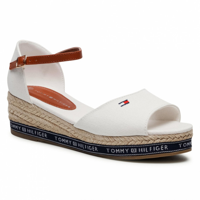 Espadrilky TOMMY HILFIGER - Rope Wedge Sandal T3A2-31056-0048113 S  Off White