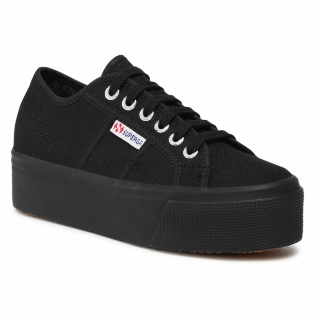 Tenisky SUPERGA - 2790 Cotw Linea Up And Down S9111LW Full Black 996