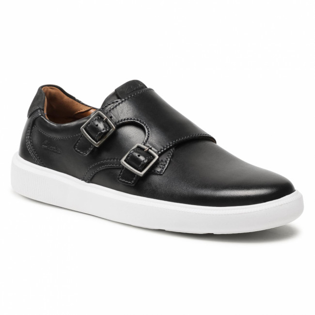 Poltopánky CLARKS - Cambro Monk 261582387  Black Leather