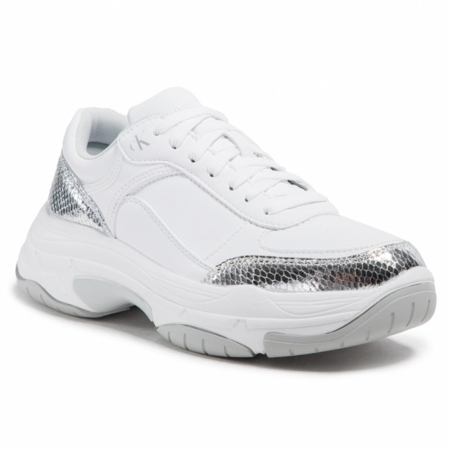 Sneakersy CALVIN KLEIN JEANS - Chunky Sole Laceup YW0YW00170  Silver 0GU