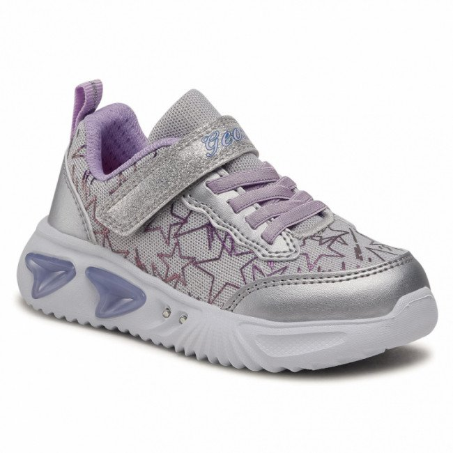Sneakersy GEOX - J Assister G. A J15E9A 0GFKN C1316 Silver/Lilac
