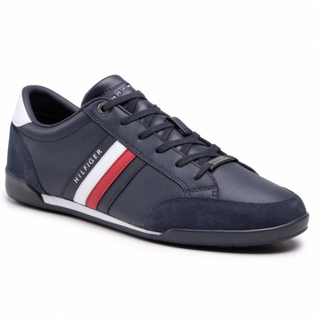 Sneakersy TOMMY HILFIGER - Corporate Material Mix Cupsole FM0FM03429 Desert Sky DW5