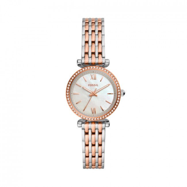 Hodinky FOSSIL - Carle Mini ES4649  Rose Gold/Silver