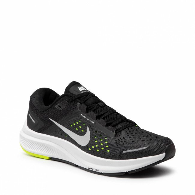 Topánky NIKE - Air Zoom Structure 23 CZ6720 010 Black/Metallic Silver/Volt