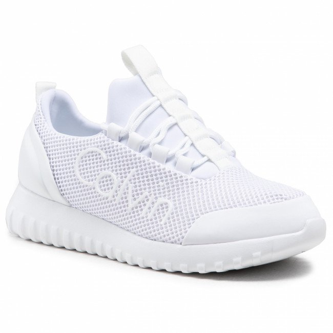 Sneakersy CALVIN KLEIN JEANS - Runner Sneaker Laceup Mesh YW0YW00165 Bright White YAF